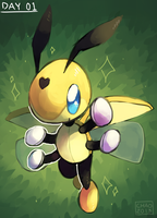 [Pokeddexxy] Day 01 - Ledian by ChocoChaoFun