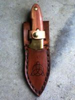 Celtic Survival Knife by RuehlLeatherWorks