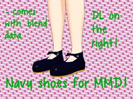 [PMD part download]Navy shoes by Yowafan