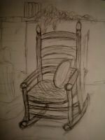Rocking chair sketch by angelthanatos