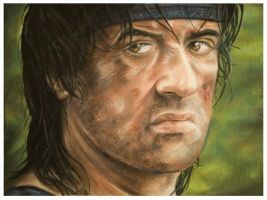 Sylvester Stallone as Rambo by Flixray