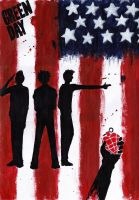 American Idiot painting wallpaper by darkwaylovesMCR