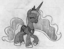 The Princess of the Night by drawponies
