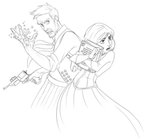 BioShock Infinite - Booker and Elizabeth by felitomkinson