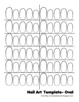 Nail Art Template Oval by Dgamm562