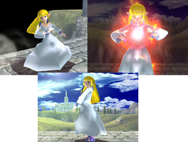 Skyward Sword: Goddess Zelda in brawl, final pics. by Demonslayerx8