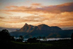 Mt Warning Sunrise by CouchyCreature