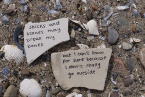 Sticks and Stones by Rhiallom
