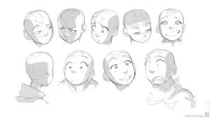Aang :Head/Face Studies: by moxie2D