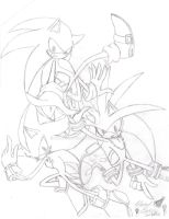 Sonic, Silver, Shadow by SupaSilver
