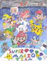 Super Mario Team by RedBanana125