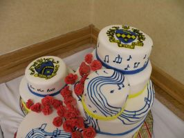 TBS KKY convention cake crests by cake-engineering