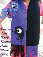 PRINCESS LUNA Hand-Knitted Scarf (FOR SALE!) by InkRose98