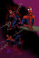 Spidey inked sketches colored by JoeyVazquez