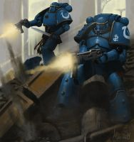 Pre Heresy Ultramarines Tactical Squard by Ilqar
