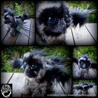 Grey-Green Griffon -Handmade OOAK Poseable ArtDoll by SonsationalCreations