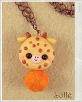 Clay Flurry Giraffe by LolleBijoux