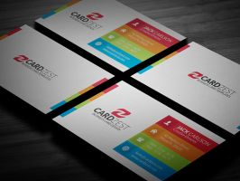 Multicolor Modern Business Card Template by mengloong
