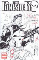 Punisher sketchcover by adelsocorona