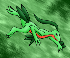 Grovyle Ish Awesome by Lilith-Memorial