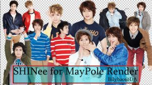 SHINee MayPole render pack by BiLyBao