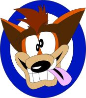 Crash's Face Colored by JediBandicoot