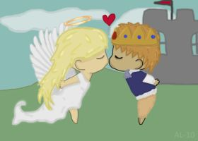 An angel and a prince by xMandy92x