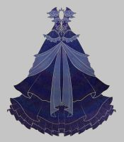Blue Dress Adopt Auction CLOSED by uwwa