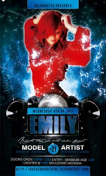 Emily Club Flyer by delphin714