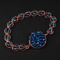 Blue and Copper Bracelet by Gailavira