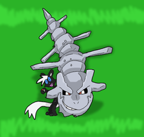 HAY LOOK AT MY STEELIX by EvilSonic2