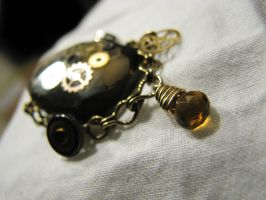 Smokey Quartz Brooch by rhin-sowilo