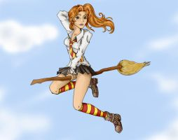 Ginny Weasley - Quidditch time by Patamao