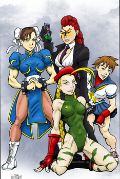 Street Fighter Girls Print FC by MightyFooda