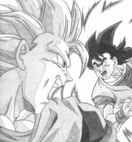 Goku vs. Goku by NCOcham