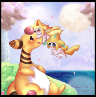 Ampharos at the Lighthouse by Link-Zelda2