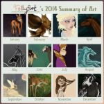 2014 Summary of Art by Follyfoot