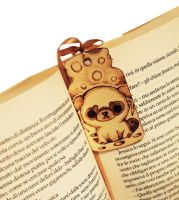Wooden bookmark Pug by ChibiPyro