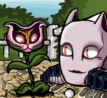 JJBA - Stray Cat n Killer Queen - mspaint by ziki-zai