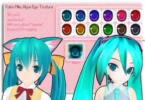 MMD Fake Miku Nyan Eye Texture by Xoriu