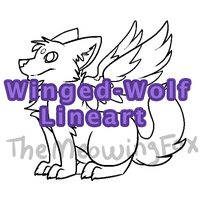 Winged-Wolf Base for 10 Points by pukukurin