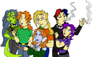 Colored Group Pic by TromboneGothGirl84