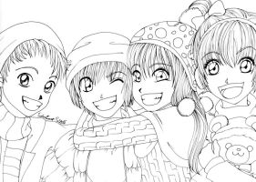 Children's Christmas (lineart) by Conzy94