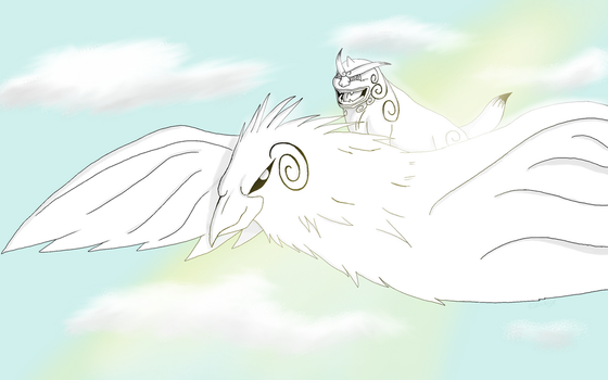 Flying with the Ink eagle by Zaikiri