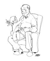 grandpa and grandson ink by thenota