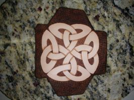 Leather piece for an archers armguard by TradArcher