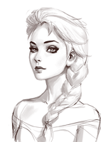 Elsa Sketch by Roggles