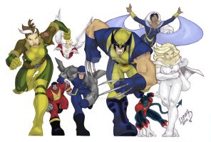 Wolverine and the X-Men COLORD by LucasAckerman
