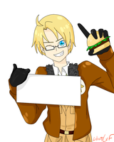 Hetalia Blank Sign: America by LiliumLief