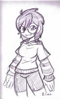 teenage miss Violet sketch by rongs1234